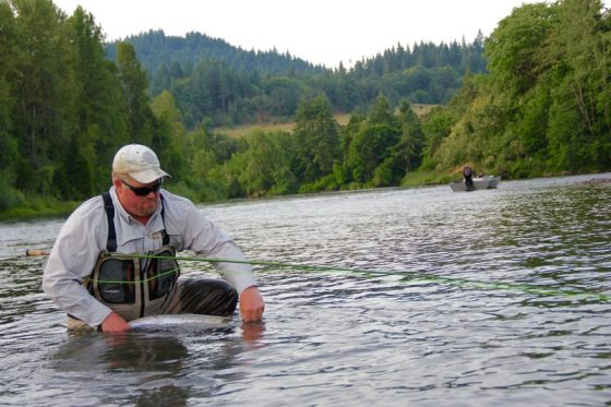 Fly Fishing for Summer Steelhead with the Holloway Bros, located in Eugene Oregon